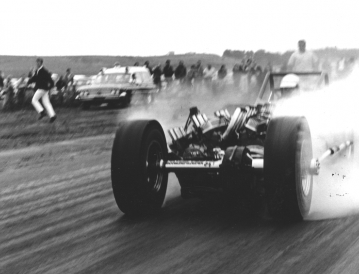 Tommy Ivo at the drag strip