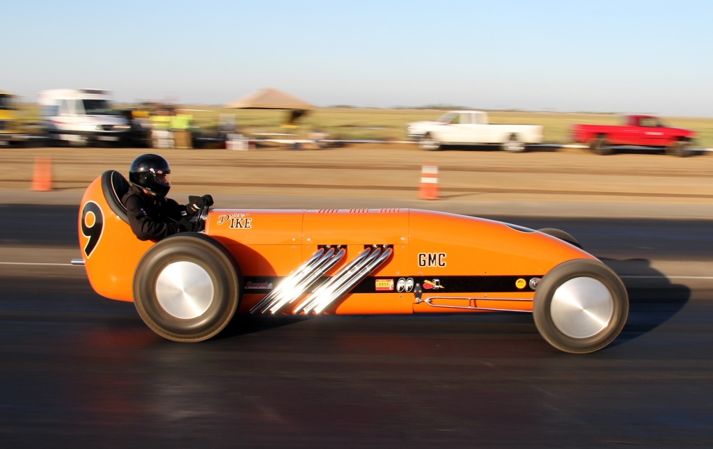 Pat Ganahl dragster racing